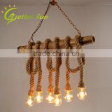 High Quality Hemp Rope Stairs Pendant Light Fixtures                                                                         Quality Choice