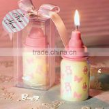 Pink Baby Bottle Candle Favor with Baby-Themed Design For Baby favors and Baby Gifts