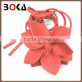 fancy cheap decorative flower pu belt without buckle for wholesale baseball belt