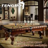 TB-US003 solid wood hand carved luxury pool billiard table                                                                         Quality Choice                                                     Most Popular