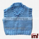 Hand Knitted Vest Cashmere Baby Waistcoat