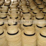 wholesale selling customs band promotion straw boater hat cheap