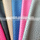 High quality Ostrich grain 100% pu synthetic leather for bags fashion design and any colours available