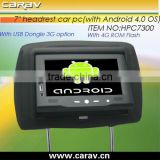 Android headrest PC with demo software for advertising on taxi
