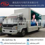 Portable LED digital advertising truck outdoor full color led mobile stage truck rmobile led screen display billboard