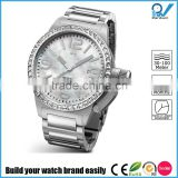 Build your watch brand easily man 3atm water resistant stainless steel watch case pearl dial