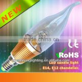 Hot New Product Candle Led Light 3W 360 Degree/ Filament Candle Led Light/360 Degree LED Filament Bulb/RoHS