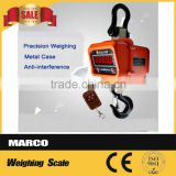 1-50 ton wireless remote control hanging dial hoist crane scale industry