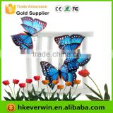 Hot Artificial Holiday Decorative Feather Butterfly with Clip / Magnet