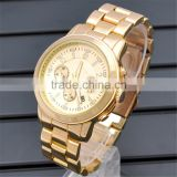 Jininzhou Fashion Gold Mens Watch Gold stainless steel quartz watch watch wholesale Cheni gold watch man
