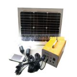 Portable 15W 20W 30W DC Mini Solar lighting system kit