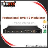 Digital Terrestrial TV wireless transmitter workin tv broadcasting equipment dvb-t2 modulator