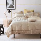Embroidery stripe style cotton bedding duvet set