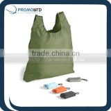 New design 2013 shopper bag Shipping bag 2014 Keyring fold bag