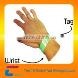 one-time use rfid paper wristband/bracelet