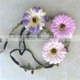 headband with artificial flower hair Bands bohemian hair accessories for girls