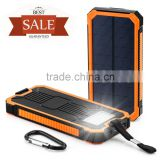Solar Cell Phone Charger, Tomsenn 15000mAh Solar Power Bank Portable Dual USB Outdoor External Battery Pack for iPhone,