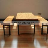 wood dining table desk sets