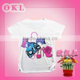 China new arrival fashionable cute wholesale cheap plain kids colored cotton t shirt