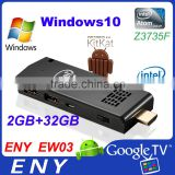 ENY EW03 smart windows10 tv dongle Live Streaming Tv Box Kodi Ew03 Window10 Intel Smart Tv Dongle