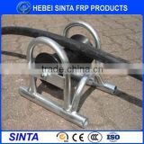 cable pulling roller Type and steel plate frame + aluminum roller or nylon roller Material cable roller