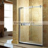 304 stainless steel rollers sliding shower screen D57