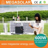 600W home solar generator system backup for home and camping power source