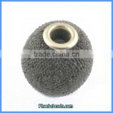 Wholesale Resin Indonesia Round Gray Jewelry Beads PCB-M100556