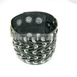 Top grade classical combined leather bracelet