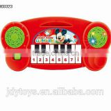 Hot selling cartoon electronic organ toy with light,Musical instrument plastic electron piano toy musical toy for kids