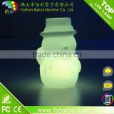 PE plastic color changing led table lamp/led decorative light/led bedside lamp for baby gift