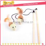 wooden cat teaser stick toy