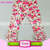 Kids icing pants & trousers baby ruffle leggings girls fancy cotton plus size flower printed capris newborn icing leggings 0-8 t