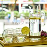 1.4L new product wholesale hand blown food grade high borosilicate clear glass water jug