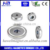 Rare earth assembly neodymium countersunk pot magnets