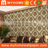 Bulk In Stock High Quality Luxury Classic Deep Embossed Flower Wall Paper Gold Silver Metallic Foil Floral Heavy Vinyl Wallpaper