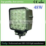 bestop high lumen waterproof IP67 48W offroad led work light for truck,trailer,jeep,suv,atv,boat