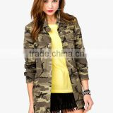 Women/ladies cotton army field jacket
