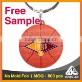 Free Sample_two sided basketball advertising customized key ring