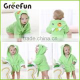 Amazon Hot Sale Green Monster Hooded Bathrobe and Towel, 0-12 Months, Baby Hooded Jumpsuit Toddler Bathrobe Baby Shower Gift