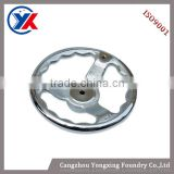 High quality Polished Casting Handwheels, iron casting hand wheels for machinery, casting metal auto parts