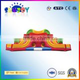 Sunjoy embroidery design custom amusement park equipment big inflatable water slide for sale