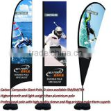 5m 6m 7m Outdoor Advertising Flying Banner Pole, Large Flag Pole,Three Shapes For Your Choose