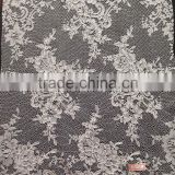 Cheap Jacquard Lace with Cording for Apparel Textiles & Accessories