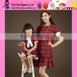 2015 Wholesale Latest Design Love Pattern Dress OEM Selling Cheaper Casual Summer Mother And Child Dress