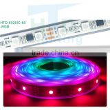 High brightness full color magic color chasing WS2812B waterproof Flexible Smd 5050 dream led strip