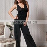 Black color 2015 new fashion wholesale sexy jumpsuits for women