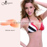 Silicone nude water bra cup inserts for bikini removable padding bra inserts