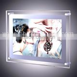 Retangle acrylic photo frame crystal led light box