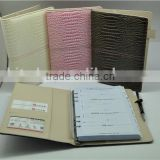 pu leather a5 6 ring binder planner